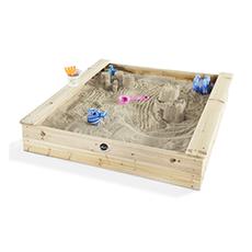 Plum quadratischer Kinder Holz Sandkasten Test